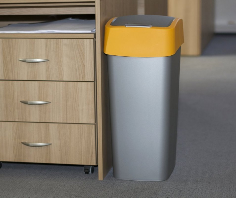Koš odpadkový Curver Flipbin 50 l žlutý