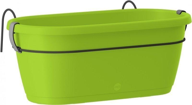 Závěsný květináč CITY 40x20cm, barva: zelená