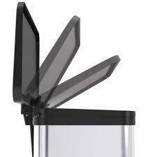 Koš odpadkový nášlapný Hailo Oko Plus M stříbrný