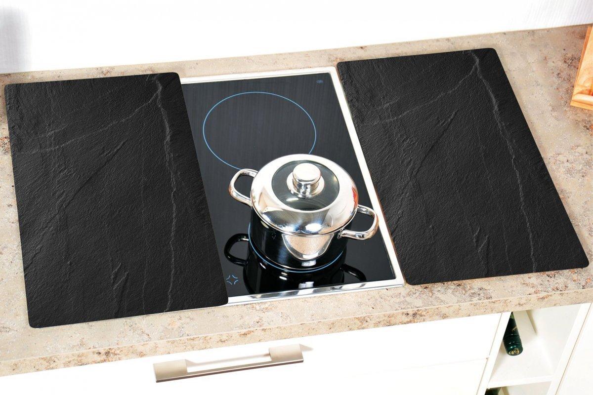 Kesper Multifunkční deska ze skla motiv břidlice, 2 ks 52 x 30 cm