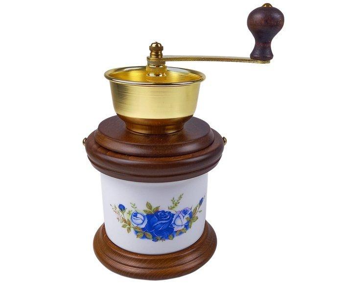 Lodos, mlýnek na kávu 1935 vzor modrá růže