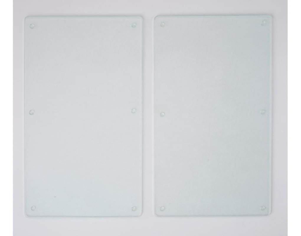 Kesper, Víceúčelová řezací deska 52 x 30 cm, průhledná. Sada 2 kusů