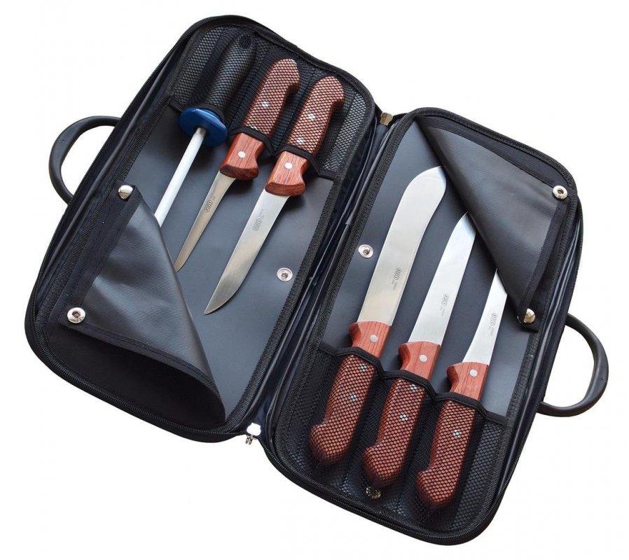 KDS Kabela s řeznickými noži dřevo Bubinga