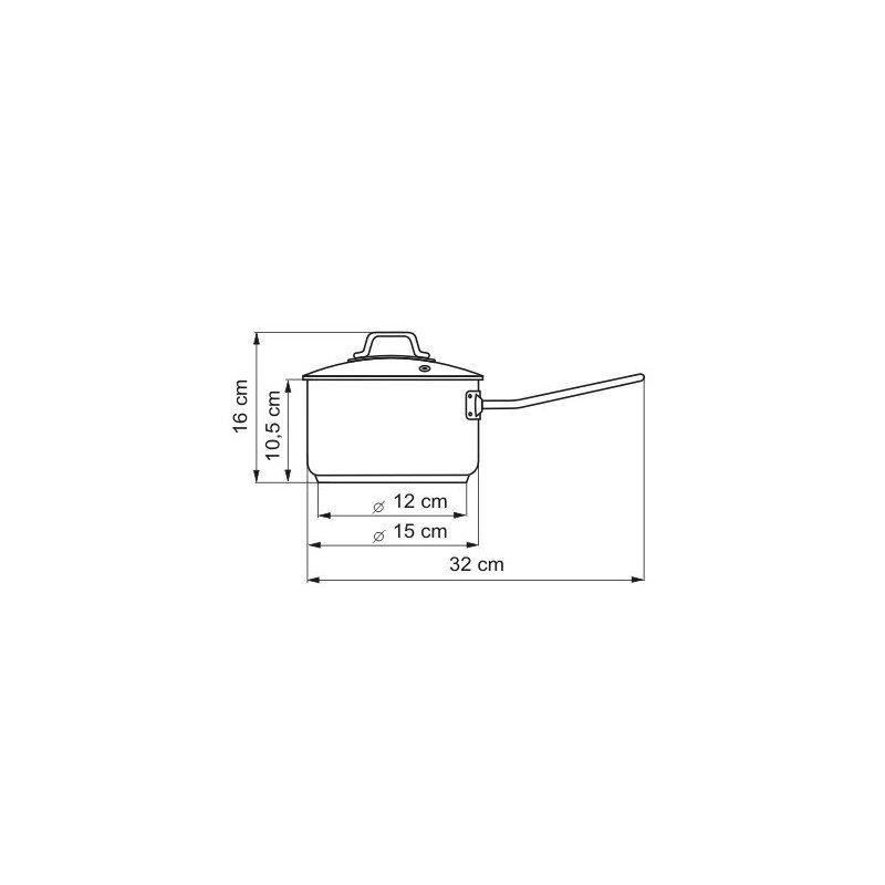 Rendlík s poklicí Kolimax Professional 15 cm 1,5 l