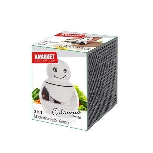 BANQUET Mlýnek 2v1 mechanický Culinaria White