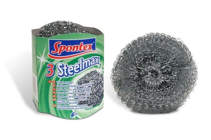 Spontex 3 Steelmax drátěnka kovová