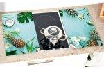 Kesper Multifunkční skleněná deska 2 ks, motiv Tropical