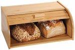 Kesper Dřevěný chlebník s rolovacím víkem, 40 x 17 x 27 cm