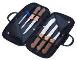 KDS Kabela s řeznickými noži 5 ks + ocilka