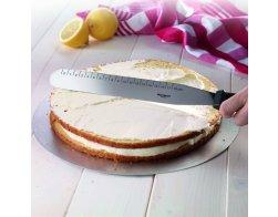 Stěrka/nůž na dort rovný, nerezový, 38,5 x 3,5 x 3,2 cm