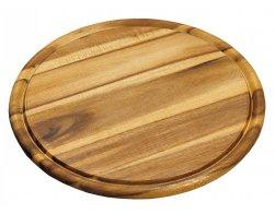 Kesper Servírovací prkénko kulaté akátové dřevo 30 cm