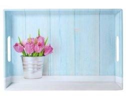Kesper Servírovací tác s motivem tulipánů 50 x 35 cm