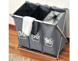 Kesper Koš na špinavé prádlo - tříděný šedý