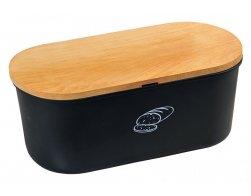 Kesper Úložný box na chléb s prkénkem, černý matný