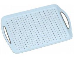 Kesper Servírovací tác plastový, protiskluzový modrý 45,5 x 32 cm