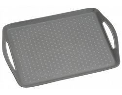 Kesper Servírovací tác plastový, protiskluzový šedý 45,5 x 32 cm