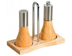Kesper Stolní sada mlýnku na pepř a slánky, výška 13 cm, gumovníkové dřevo a nerezová ocel