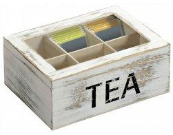 Kesper Čajový box, dřevěný bílý