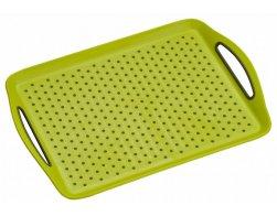 Kesper Servírovací tác plastový, protiskluzový zelený 45,5 x 32 cm