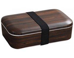 Kesper Obědový box s dekorem tmavého dřeva 18,5 ×12,5 × 6 cm
