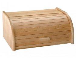 Kesper Dřevěný chlebník s rolovacím víkem, 30,5 x 15,5 x 20,5 cm