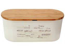 Kesper Plastový chlebník s prkénkem, bílý