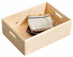 Kesper Víceúčelová dřevěná bedýnka, 40 x 30 x 14 cm