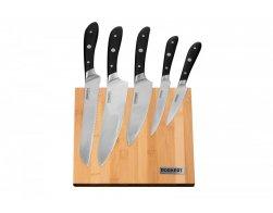 Porkert Sada nožů Vilem s bambusovým blokem 5 ks