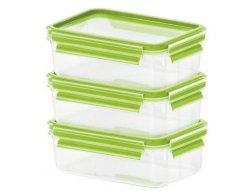 Sada 3ks dóz na potraviny 3x0,55L - CLIP&CLOSE zelená