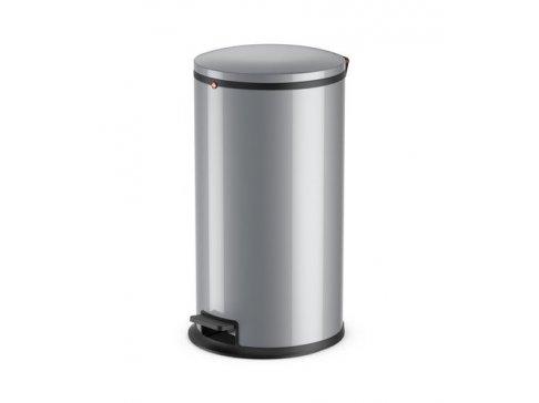 Koš odpadkový nášlapný Hailo 25 L stříbrný lak