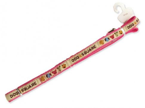 Vodítko DOG SQUARE Ribbon 120 x 1,5 cm