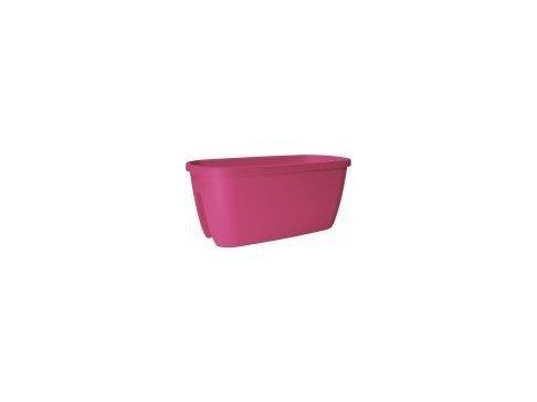 Květináč na zábradlí CITY 60x30cm, barva: světle růžová