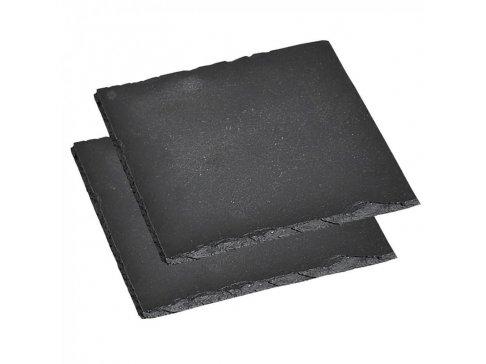 Kesper Sada břidlicových desek na servírování jídla čtverec 20 x 20 cm