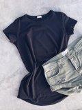 Bavlněné tričko - Černé