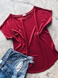 Basic tričko one size - Červené