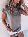 Bavlněné tričko one size - Šedohnědá bavlna