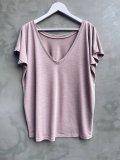 Tričko s V výstřihem na zádech - Růžové