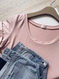 Basic tričko - Světle růžové (bambus)