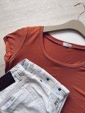 Basic tričko - Cihlové (bambus)