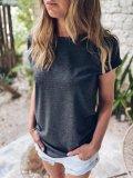 Basic tričko one size - Tmavě šedé melé