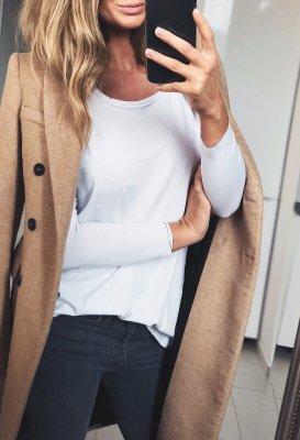 Tričko s dlouhým rukávem - Bílé