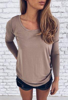 Tričko s dlouhým rukávem - Mocca
