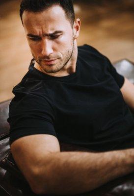 Bavlněné basic tričko - Černé