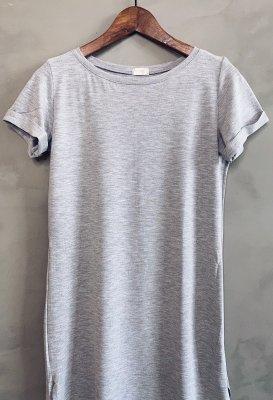 Basic šaty - Šedé melé