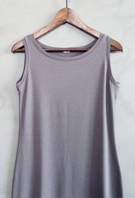 Basic šaty na ramínka - Šedohnědé