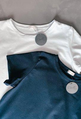 Bavlněné basic tričko - Tmavě modré