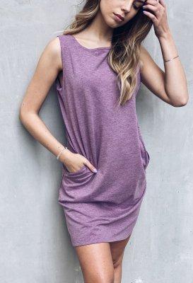 Bavlněné šaty - Violet melange