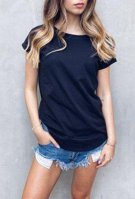 Bavlněné basic tričko - Černé One size