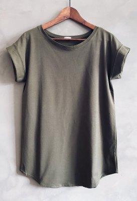 Bavlněné basic tričko U - Khaki
