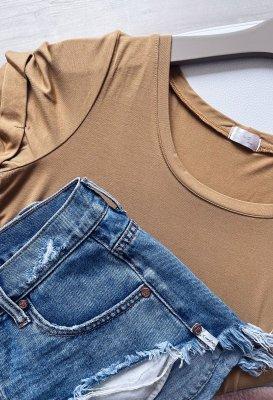 Basic tričko - Skořice